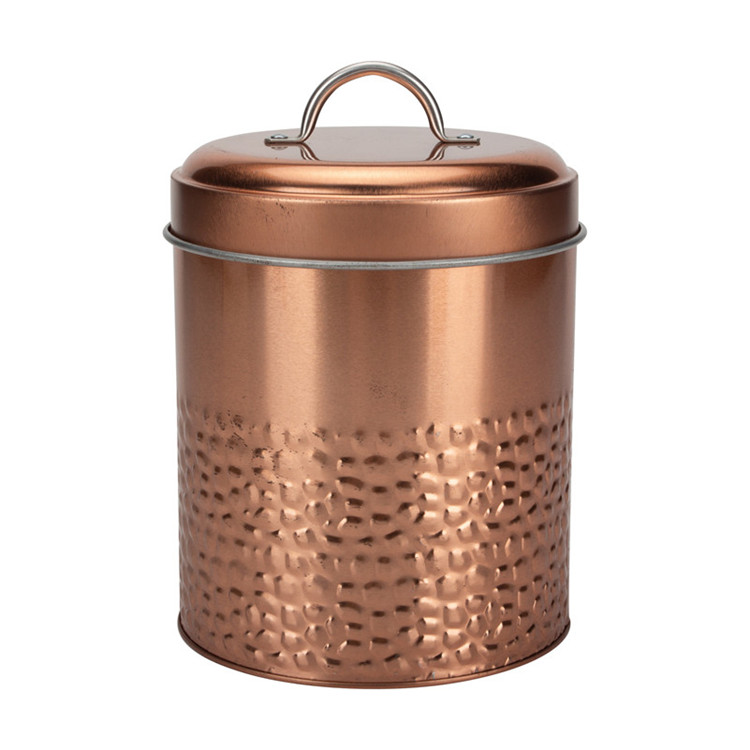 Metal Tea Sugar Canister Jars copper