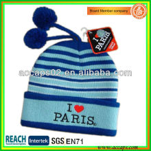 Beanie supplier make paris embroidery hat for Europe BN-2642