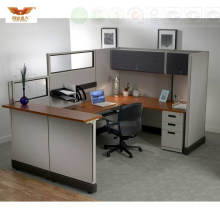 Single Desk Design Workbench Ao2 System Style Office Cubicle with Overhead Cabinets (HY-246)