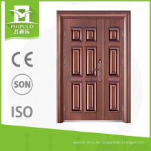 Estilo popular imitación de cobre a prueba de sol hijo y madre puerta de seguridad