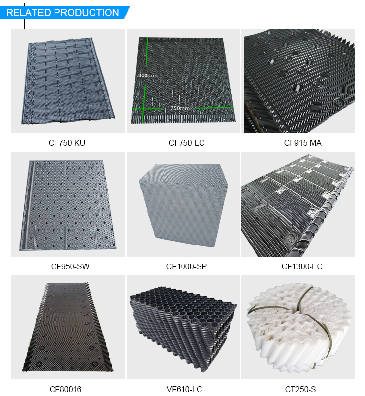 Different types of cooling tower fill