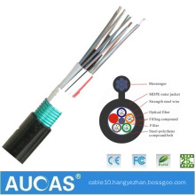 Made by Aucas good product GYXTC8Y 4 core stranded aluminum outdoor multimode fiber optic cable