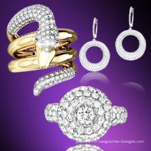 Bague à bijoux en or 18k en or 925 en argent