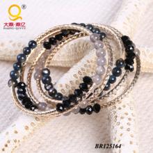 Bracelet à grande spirale en cristal à grande coque en agate d'2014 (BR125164)