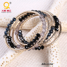2014 Trendy Agate Shell Crystal Large Coil Bracelet (BR125164)
