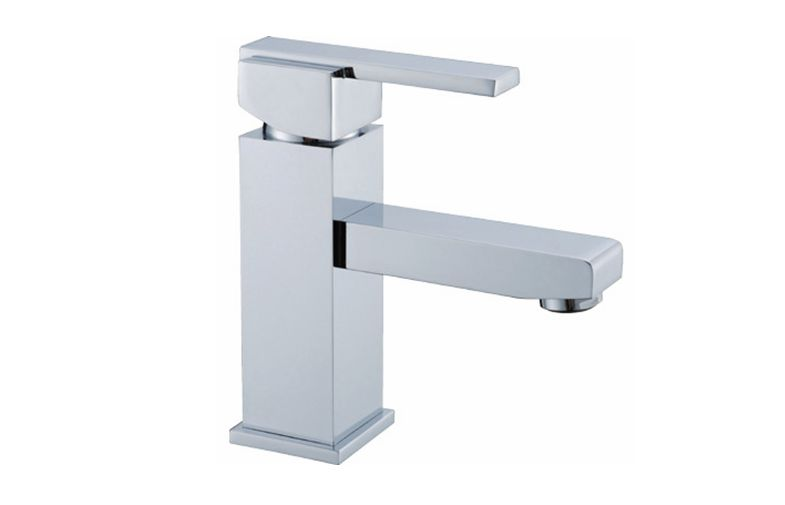Square bathroom basin mixer