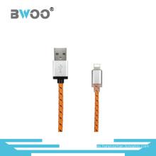 Cable de datos USB trenzado de nylon para Android / teléfono / cable de tipo C