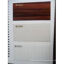 Résistant aux rayures en feuille acrylique en PVC pour armoires de cuisine (ZHUV)