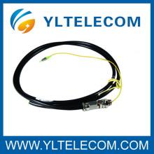Cabo de remendo da fibra óptica do LC, cabo de remendo de fibra óptica impermeável do milímetro 50/125