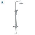 KR-05 product brass wall mounted chrome surface shower sprinklers set, ceramic cartridge with shower head shower sprinklers set