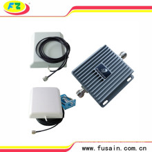 65dB Gain Dual Frequency Band Lte 850 MHz / 1900 MHz Mobile Signal Booster 3G com 2 Alto Ganho Painel Direcional Antenas