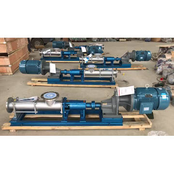 G slurry single screw pump pompa perpindahan positif