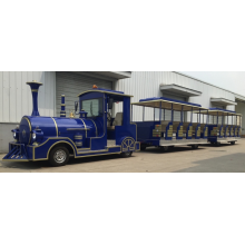 large Diesel trackless train
