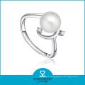 White Freshwater Pearl Ring Designs for Women (SH-J0080R)