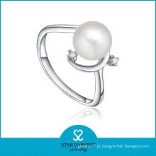 White Anel de pérolas de água doce design para as mulheres (SH-J0080R)