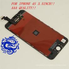 pour iPhone 4S Noir / Blanc Téléphone Portable LCD Complet