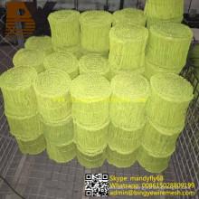 Galvanisez le fil recousu par double de boucle recouverte par PVC noir de boucle