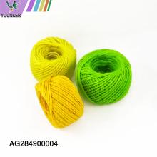 Corde de jute multicolore de haute qualité pour le bricolage