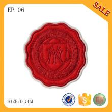EP06 Fashion custom 3D logo embroidery patches for garment/hat/handbag
