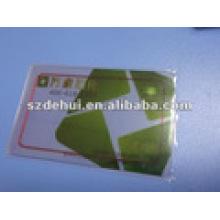 Cartes à puce RF à profil transparent PVC Visual