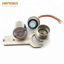 Porous sintered stainless steel flameproof filter nitrogen dioxide gas sensor housing with filter disc