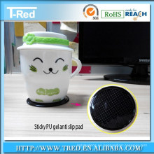 fabricante almohadilla de gel de poliuretano adhesivo de succión nano