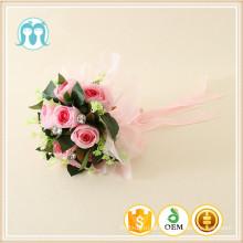 Flores de plástico para o casamento / meninas flores para a noiva por atacado, fabricação chinesa artificial