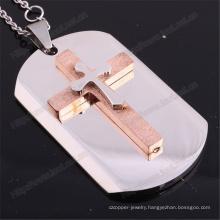 Wholesale Women Simple Stainless Steel Cross Pendant Necklace (IO-st237)