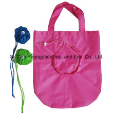 Promotional Nylon Folding Shopping Tote Bag in Pouch
