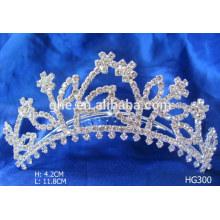 Jóia de niquelar de diamante de strass e ornamentos de strass gabinete de moldagem de coroa