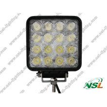 Lâmpada LED quadrada 48W fora de estrada