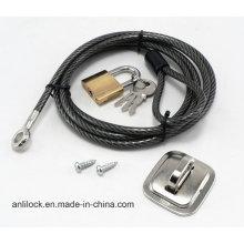Cerradura de la computadora, cerradura del cable, cerradura del ordenador portátil, bloqueo del escritorio Al-2000-03