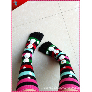 Five Toes Knitted Christmas Sock