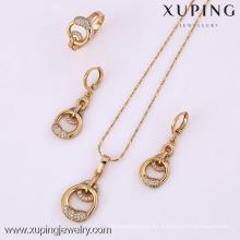 61816-Xuping Fashion Woman Jewlery engastado con oro de 18 quilates plateado