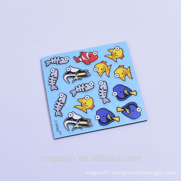 cute fish design EVA soft fridge magnet stickers for kids promotional toys