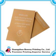 personalizado de alta qualidade off-set impressão kraft envelope de papel reciclado
