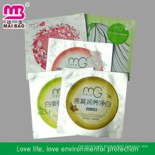 Food grate facial mask pack bag for cometic packaging