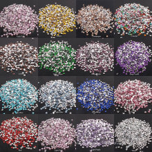 Hot Sale 3-6mm Colorful Clear AB  Flatback Glass Rhinestones For Clothes