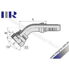 Raccords de tuyau embouti femelle métrique 45 degrés GB (20741)