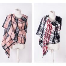 Cachemire des femmes comme classique foulard châle impression d'hiver tricoté à carreaux (SP304)