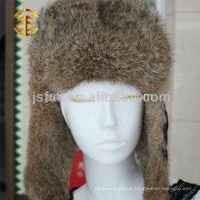 Letztestes stilvolles echtes Muster Natürlicher Winter-russischer Art-Pelz-Hut