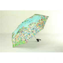 "21 ""x8K Folding Map Umbrella, Promo Regenschirm"