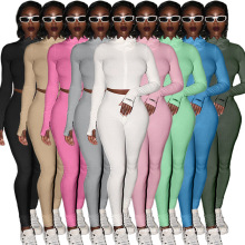 H86 Women Two Piece Lucky Label Outfits Tracksuits Jogger Sets Fashion Fall Matching Clothing Jumpsuits 2 Piece Biker Short Sets