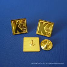 Stempel Logo Gold überzogenes Abzeichen mit Buchstabe (GZHY-LP-014)