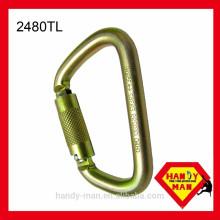 Auto Lock Gate Tipo D em forma de segurança de bloqueio automático Gancho de aço 35kN