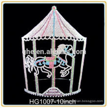 Hot selling factory directly cheap tall pageant crown tiara