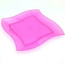 Plastic Plate Disposable Tray 18cm Square-Wave Tray