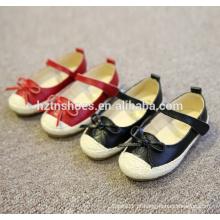 Confortável miúdos calcanhar sapatos casuais calcanhar com bowtie velcro alças corda espadrilha