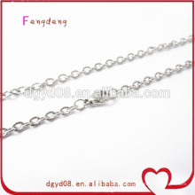 Stainless steel floating locket chain necklace