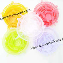 Tapas elásticas personalizadas de silicona para alimentos a prueba de fugas